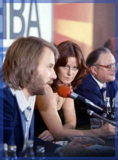 Frida and Benny,  Press conference in Poland  1976