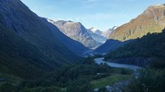 Mountains by The Fjords in Norway