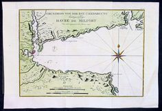 Antique Map of Chedabucto Bay Nova Scotia - The location doesn't mean anything to me, but it is a nice looking map.