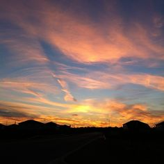 #Clouds waving as the sun says goodnight #sunset in #Bastrop #TX by BastropTXEDC, via Flickr