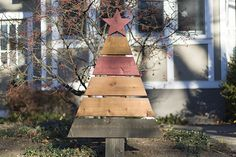 Construct a rustic Christmas tree for your home. It is the perfect holiday project!
