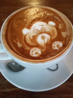 Cutest mocha art at Voodoo Child on college Voodoo, Places To Eat, Mocha, Latte, College, Child, Kid, University, Boys