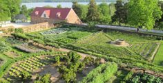Aerial view of George Washington's Lower or Kitchen Garden at Mount Vernon. The genius doesn't end!