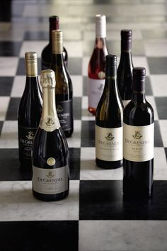 De Grendel wine South African Wine, Wine Vineyards, Pta, Bottle Labels, Label Design, Farms, Red Wine, Scene, Glass