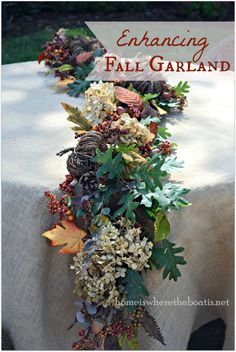 Enhancing Fall Garland | Home is Where the Boat Is