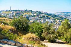 Panoramic overlook of Jerusalem from Mount Scopus, near the Hebrew University of Jerusalem