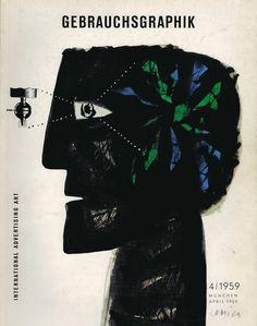 "April 1959 ""Gebrauchsgraphik"" cover by Jan Lenica."