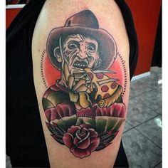 Traditional Freddy by @timit_tattoos