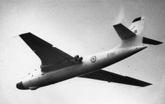 """RAF Vickers Valiant XD816 April 1968. The Cold War bomber had a short career in the RAF's trio of """"V-Bombers""""."""