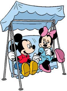 Mickey & Minnie Porch Swing