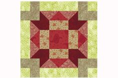 Divided Cross Quilt Block Pattern