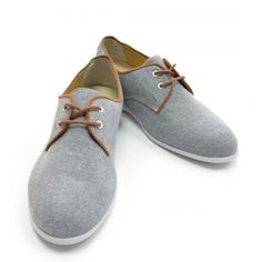 Gray Contrast Sneakers Men Shoes Korean Fashion