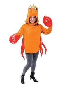 259841d5953 Mens Ladies Adult Crab Fancy Dress Costume Outfit Sealife New