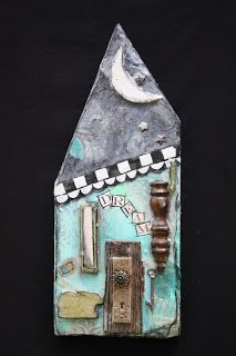 Michelle Leech Art: Mixed Media Houses That Inspire