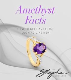 Amethyst is easy to care for, simply clean the stone with warm soapy water and dry using a soft cloth. Buy this lovely gemstone in store or online at http://www.stephensjewellers.com.au/brand/stephens?category=&stone_type=&metal_type=&search_query=&gender=&promotion= #Stephensjewellers #Jewellery #Amethyst #February #Birthstone http://www.stephensjewellers.com.au/