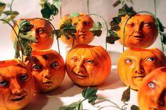 William Bezek the Artist: September 2009 - Paperclay Pumpkin Lanterns
