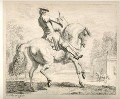 horseman Dirk Maas etching 1690