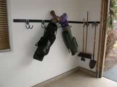 Garage Accessories   Golf Club Storage Keep Your Garage Floor Clear Of  Clutter With Custom Closet
