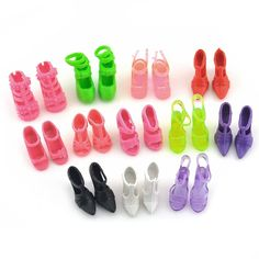 Amazon.com: 10 Pairs of Doll Shoes Fit Barbie Dolls Style and Color May Vary: Toys & Games