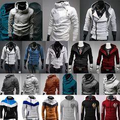 Mens Hoodie Jacket Coat Long Sleeve Pullover Jumper Sweater Shirt Sweatshirt Top #Unbranded #OtherCoats