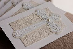 Custom First CommunionConfirmation InvitationsSet by SassaScraps, $35.00