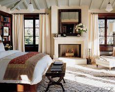 Beautiful Master Suite with Gorgeous Fireplace by Michael S. Smith...