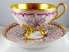 Davenport Tea Cup and Saucer pink
