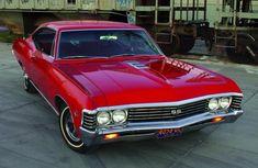 1967 Chevrolet Impala SS in Bolero Red Chevy Impala 1967, 67 Impala, General Motors, Sexy Cars, Hot Cars, Gta, Muscle Cars, Volkswagen, Toyota