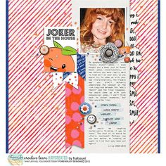 Digital Scrapbooking Kit - ORANGE-YOU-GLAD Page Kit   ForeverJoy Designs