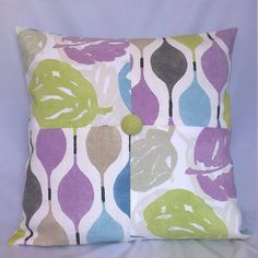 Retro abstract  patchwork cushion/pillow by CraftyLittleSharon