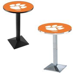 Clemson Tigers Square-Base Pub Table. Visit SportsFansPlus.com for a Discount Coupon.