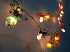 Glowing string lights for party