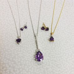 Amethysts are part of the Quartz family and come in a variety of violet shades. It is also the birthstone for February and symbolises love happiness sincerity and wealth. #platinum #diamond #emerald #tourmaline #sapphire #ruby #handmade #jewellery #diamondjewellery #gold #berkhamsted #hertfordshire #london #watch #luxury #england #engagementring #wedding #weddingring #baileyandsons #raymondweil #frederiqueconstant #tissot #clogau #bespokejewellery #pendant #ring #bracelet