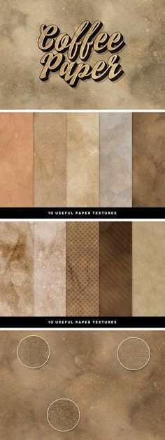 FREE DOWNLOAD | 10 Coffee Paper Textures - download freebie by PixelBuddha