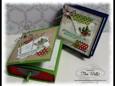 ▶ All in One Card and Treat Box - YouTube...cute! A lot of this video is on stamping and coloring, but the box/drawer starts at about 6 1/2 min in.