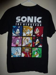 official Sonic The Hedgehog, adult med T shirt