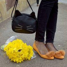 bonprix bag cat shoes yellow zara
