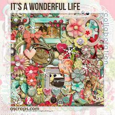 Oscraps :: Shop by Designer :: Collaborations :: Oscraps Collabs :: It's A Wonderful Life :: Oscraps Collaborative Kit