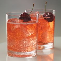 Cherry moon  Cherry vodka, 7up and Grenadine.