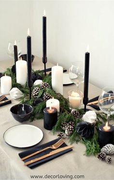 a scandinavian inspired christmas table setting A scandinavian christmas tablescape Scandinavian Christmas Decorations, Decor Scandinavian, Decoration Christmas, Decoration Table, Centerpiece Decorations, Industrial Christmas Decorations, Tree Decorations, Modern Christmas Decor, Christmas Dining Table Decorations