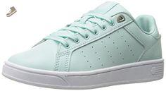 Clean Court CMF, Sneakers Basses Femme, Noir (Fair Aqua/White), 37 EUK-Swiss