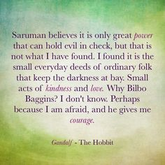 My favourite Quote from 'The Hobbit'