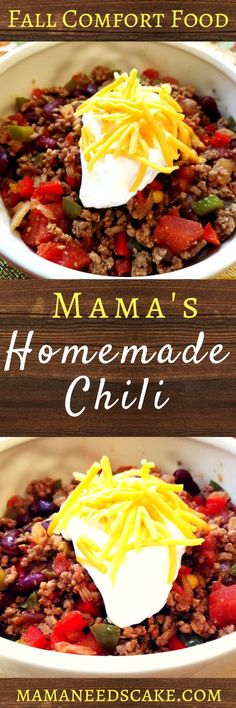 Mamas Homemade Chili  #chili #fall #recipe #homemade #autumn #warmth #southern