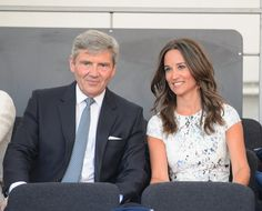 Michael and Pippa Middleton in the royal box during the Coronation Festival Evening Gala at Buckingham Palace on July 11, 2013.