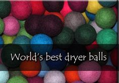 "Dryer balls!!  40% off today...coupon code ""cybermonday"".  Your welcome LOL!"