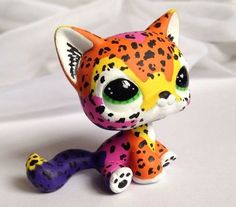 Littlest pet shop ~ L. Frank Leopard ~ LPS Custom Hand Painted Cat OOAK #Hasbro