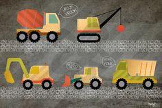 Beep Beep - Construction Trucks, Transportation Canvas Wall Art | Oopsy daisy