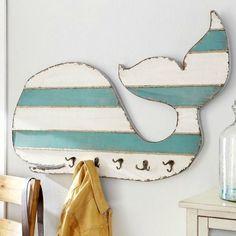 Cute Whale Hook Wall Rack on Sale: http://www.completely-coastal.com/p/coastal-sale-island.html