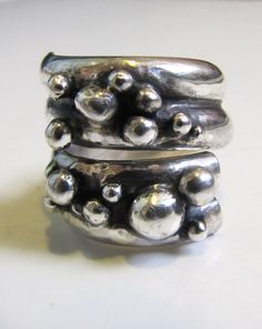 Channeled Sterling Silver Ring with Adornment