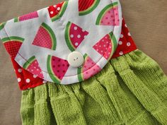 Watermelon Quilted Hanging Kitchen Towel Hanging by TheTamedTowel, $14.50